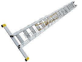 Лестница стремянка профессиональная 3х18 Алюмет 14 метров