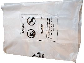 Plastic bag for the Bosch vacuum cleaner GAS 12-25 PL Professional