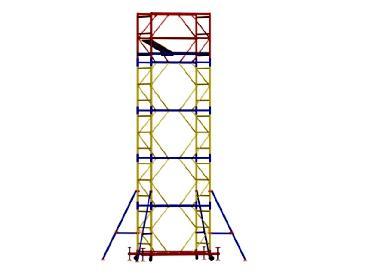 Аренда вышки туры ВСР 1 площадка 0,7 × 1,6 метра высота 5,1 метра (116 кг)