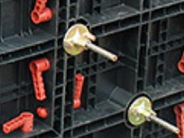 Аренда замка фиксатора и полимерной гайки для внутренних и внешних углов стеновой опалубки